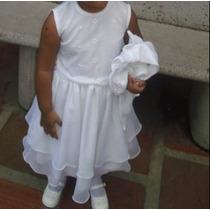 Hermoso Vestido De Niña Bautizo Talla 2
