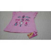 Blusa De Niña Marca Barbie, En Talla 6, Color Rosado, Linda!