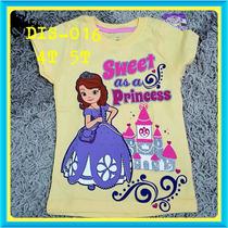 Franelas Disney Princesas Sofia Minnie Mouse