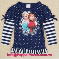 Frozen Camisa Azul Marino Talla 5t