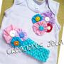 Franelillas Ovejita Con Lazo Niñas Decoradas Flores De Tela