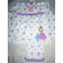 Bella Pijama Algodon Peruano Diseño Princesa Niña Calidad