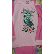 Bellas Pijamas Para Niñas Monster High, Princesas Disney,