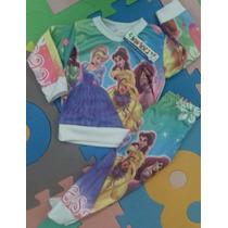 Pijamas De Niña Sublimadas Princesas, Barbie, Dra Juguetes