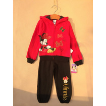 Buzo Minnie Mouse Rojo Y Negro Talla 18 M A Talla 3 Años