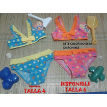 Trajes De Baño Para Niñas Marca Bebe Crece 2 Piezas