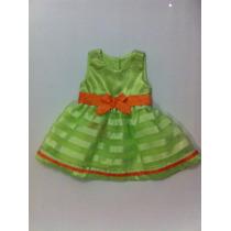 Vestido De Fiesta Paulett´s Para Niñas, Talla 3 Meses