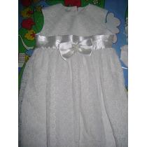 Vestido De Bautizo Y Cintillo Para Niñas Talla 4 (obsequio)