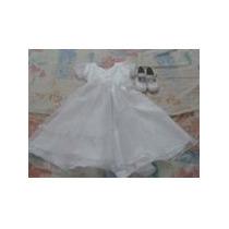 Vestido Para Niña Blanco + Zapatos