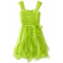 Lindo Vestido De Fiesta Verde Para Niñas Talla 8