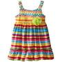 Bellos Vestido Para Niñas De Algodon Multicolor Talla 5 Y 6x