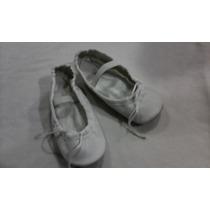 Zapatillas Blancas De Ballet Talla 27 Miden 15ctms.