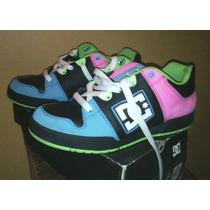 Zapatos Dc Shoes 100% Originales Skate Poco Uso 36 Unisex
