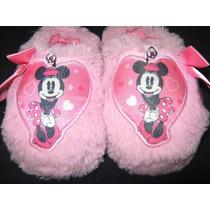 Pantuflas Minnie Mouse Original Disney Para Niñas Nº 21