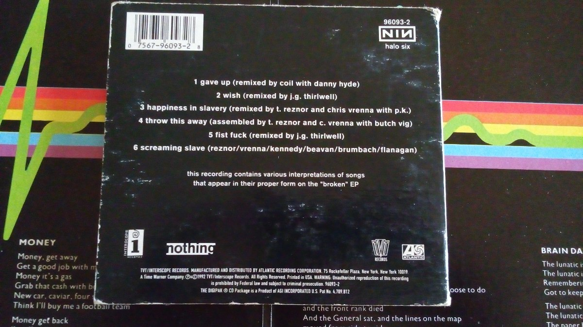Nine Inch Nails Fixed Cd Digypack Omi - $ 130.00 en Mercado Libre