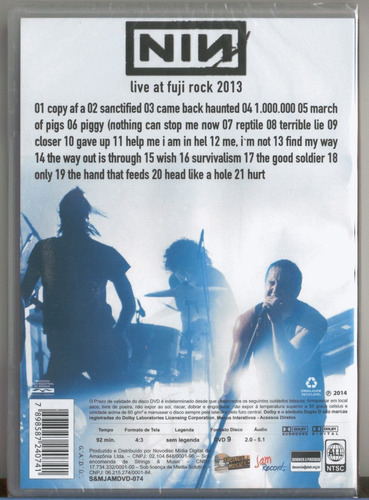 nine inch nails live at fuji rock dvd original novo lacrado
