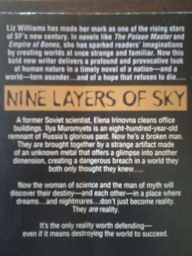 nine layers of sky  - liz williams - paperback en inglés