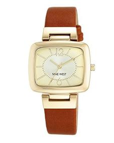 cbe74a5c356a Nine West Miel Reloj Con Correa Color Dorado Moderno Funda
