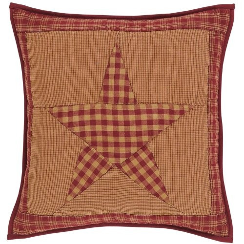 ninepatch estrella acolchada funda de almohada de 16x16 \