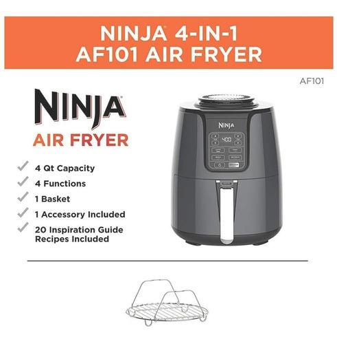 ninja air fryer, freidora de aire, 4qt.