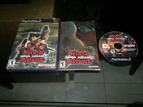 ninja assault completo para play station 2,guncon 2,checalo