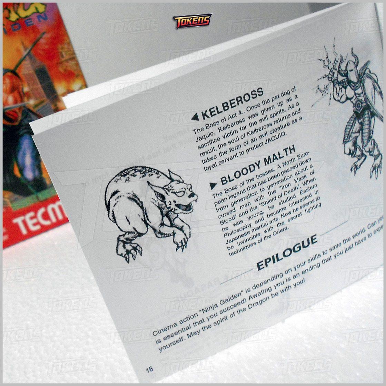 Ninja Gaiden 1 2 Y 3 Nes Caja Manual Etiquetas Fundas