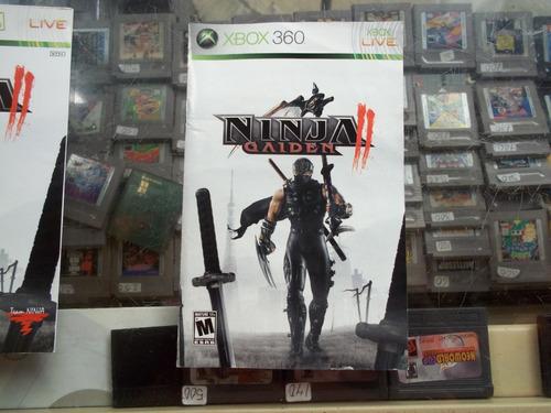 ninja gaiden 2 xbox 360 solo portada y manual