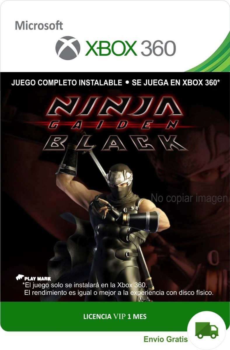 Ninja Gaiden Black Xbox 360 Y Xbox One Envio Gratis 69 00