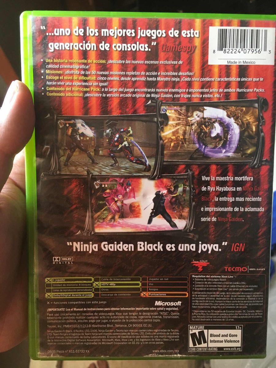 Ninja Gaiden Black Xbox Clasico Xbox One Retrocompatible 990 00