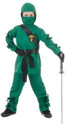 ninja niño verde pequeño