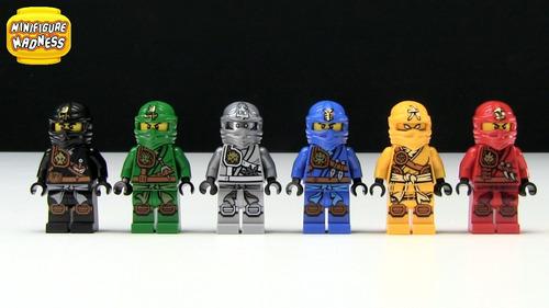 ninjago 16 bonecos cole jay kai lloyd clouse = lego