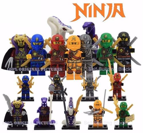 ninjago boneco lloyd cole zane cobra pythor bonecos = lego