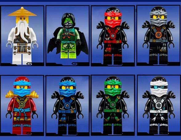 Ninjago cole jay kai lloyd morro nya sensei wu zane lego - Ninjago kai jay zane cole lloyd ...