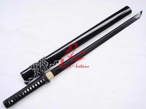 ninjato lâmina negra aço 1095 shinobigatana espada ninja