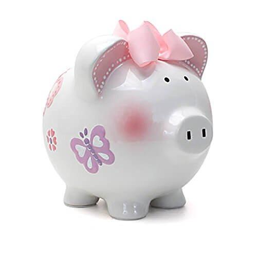 niño a cherish piggy bank large butterfly