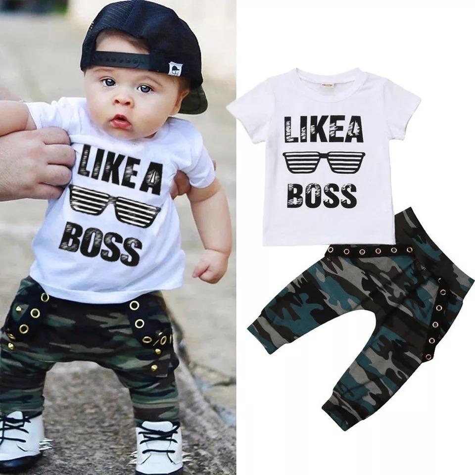 Niño Conjuntos Ropa Vestir Prendas Bebe Algodon Infantiles