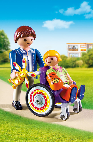 niño en silla de ruedas hospital playmobil r5230