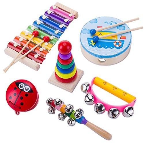 Niño Juguetes Instrumentos Musical Tonos Mano Llamar Con 2732