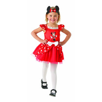 Minnie Mouse Disfraces - Mini Rojo Bailarina Pequeños Niños