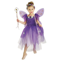 Traje De Hadas - Niñas Púrpura Del Ciruelo Pixie Disfraces