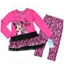 Conjunto Minnie Vestido Tutu Con Calzas Talla 4, 5, 6 Y 7