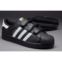 Zapatillas Superstar Para Niño Negras