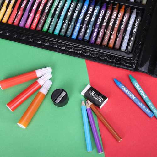 niños arte kit 175 suministros pieza de arte para pintura y