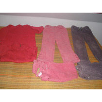 Pantalones Cotele Morados Talla 6, Chalecos Niñita Talla 4