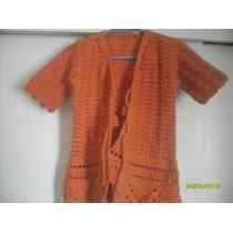 Elegante Chaleco Crochet Hecho A Mano Talla 2