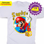 Mario Bros Calcomanias Personalizadas Para Franelas