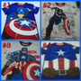 Ropa Franelas Para Niños, Capitán América, Iron Man, Hulk