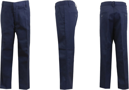niños marina plano frente husky pantalones - tamaño 12h ca