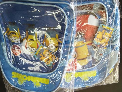 niños minions mochilas