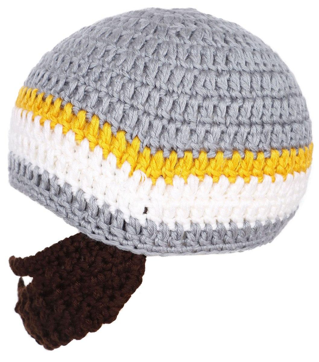 Niños Niño Barba Sombrero Crochet Tejido Invierno... (grey ...